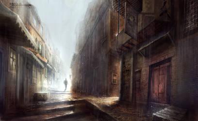 Rainy day by Skulio
