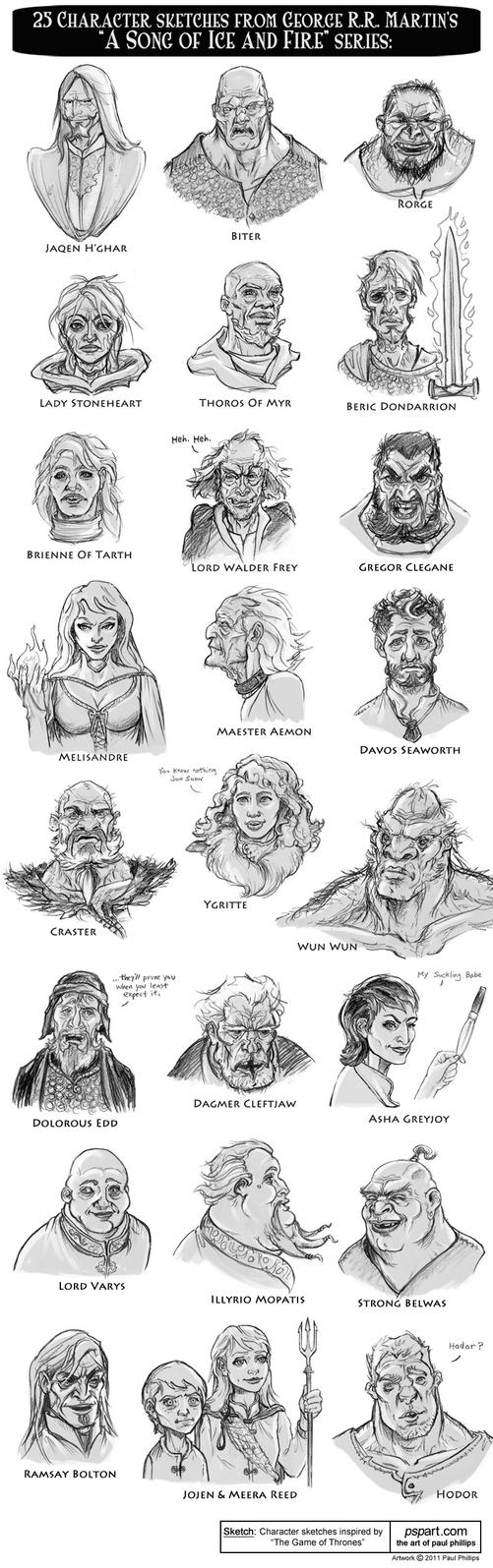 Game of Thrones Character Art by PaulPhillips