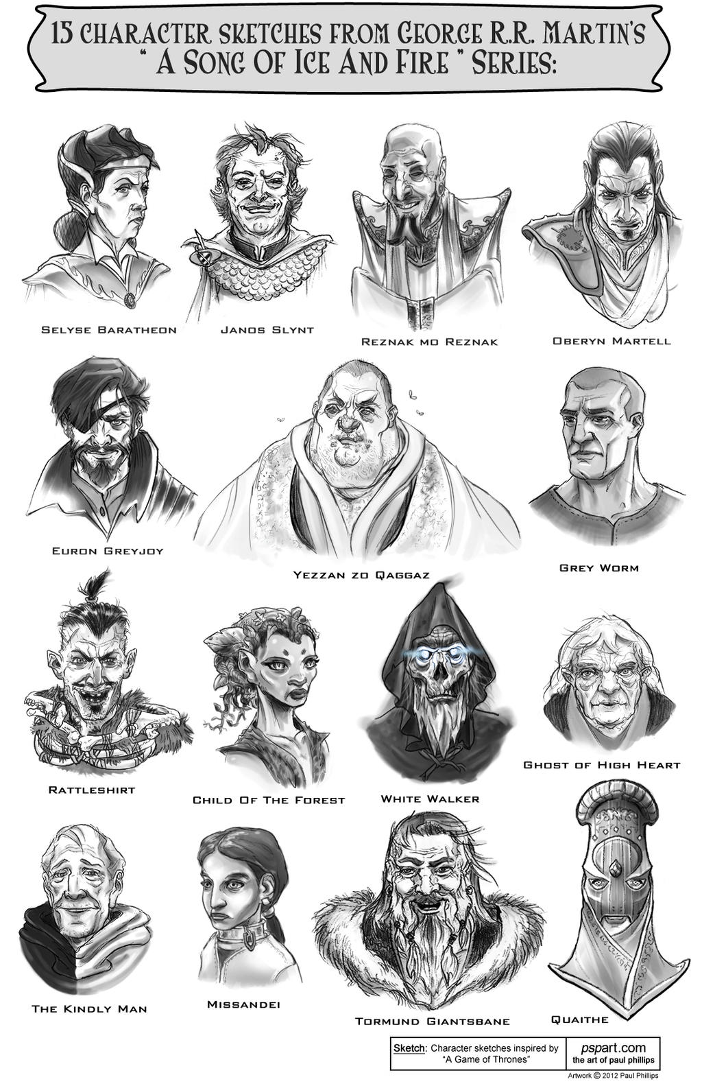 ImageSpace - A Song Of Ice And Fire Characters Art