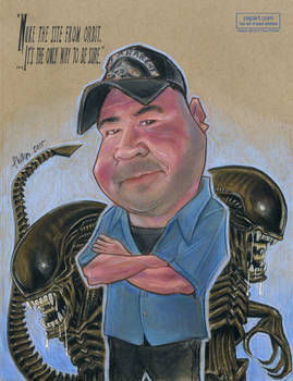 Caricature with Giger Aliens!