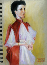Caricature of a John Singer Sargent Painting