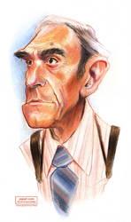 Abe Vigoda Caricature Sketch