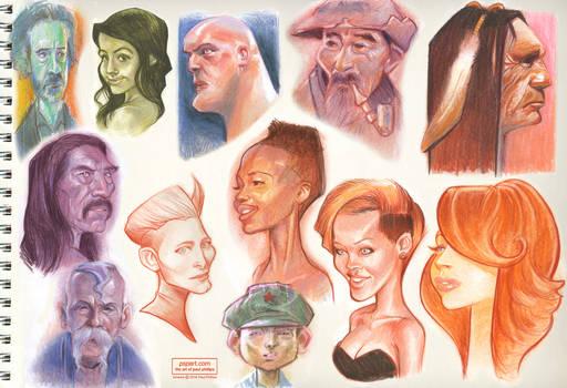 Sketchbook Color Head Studies