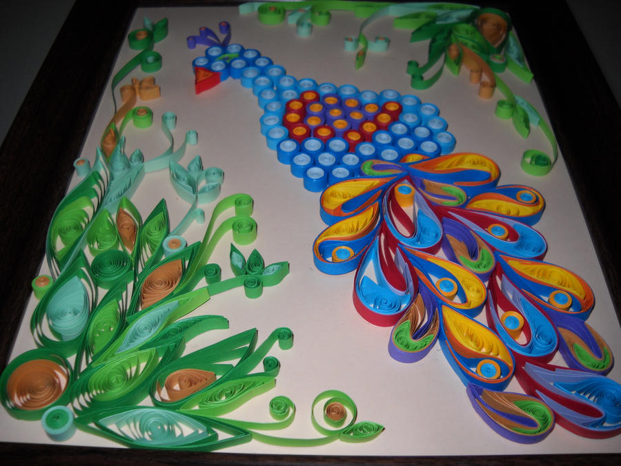 Peacock quilling by silverpoppy on deviantart - Paper quilling art wallpapers ...