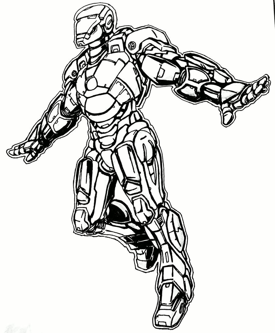 Line Art Man : Iron man lineart by hopeyouguessedmyname on deviantart