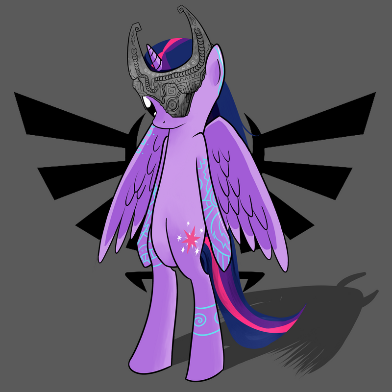 Twilight Sparkle As Midna from Legend of Zelda 2 by kiwifingers
