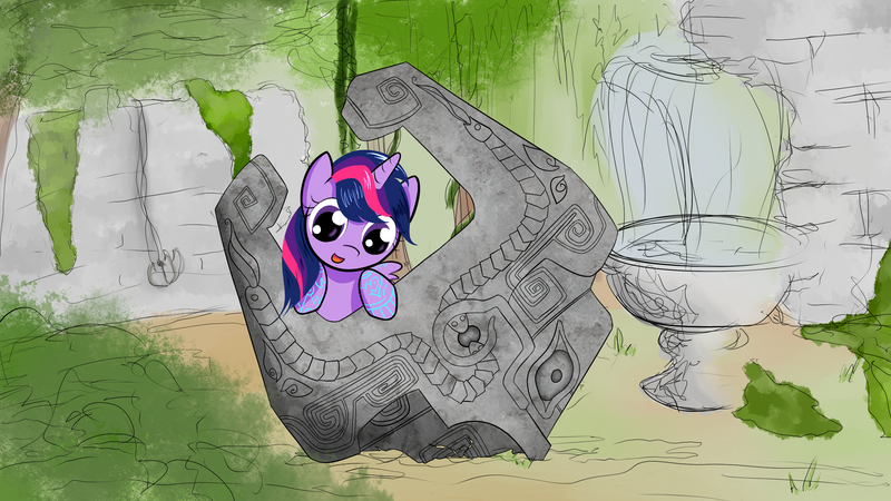 Filly Twilight Sparkle and the Fused Shadow by kiwifingers