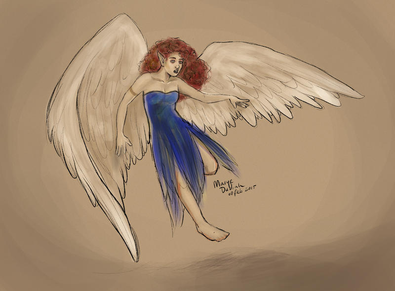 Wings makes us clumsy by Mariey