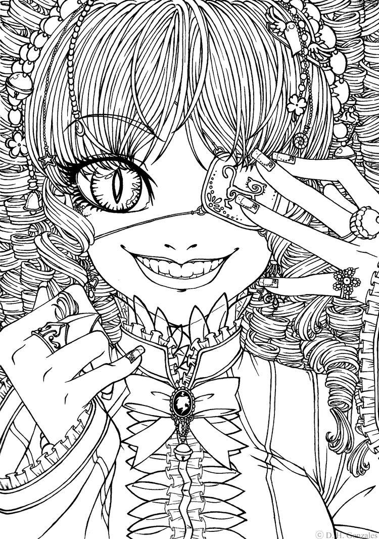 Cat Eyed Gothic Lolita by bakero-ichiban