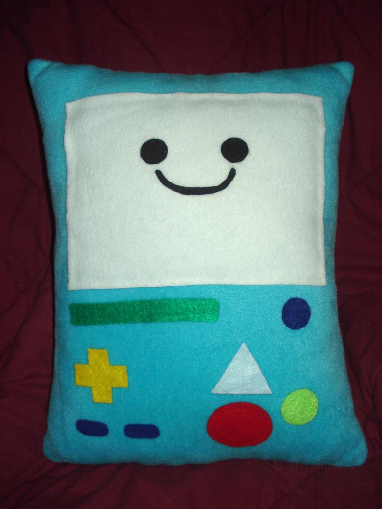 Beemo/BMO Plushie Pillow by bakero-ichiban