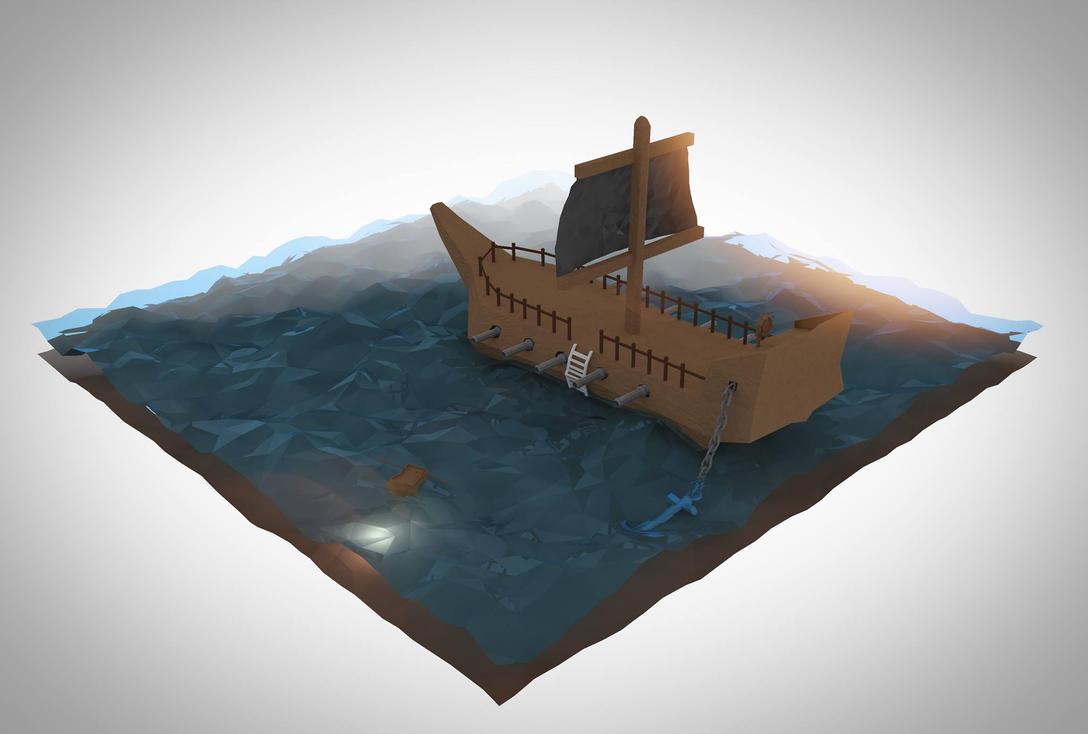A boat ... by Allexbiggb