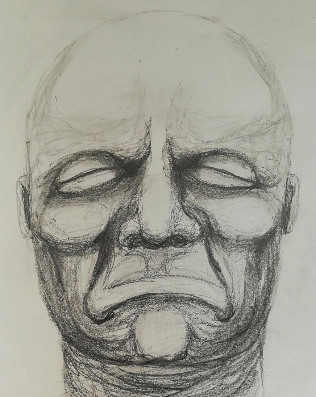 Study of a bust by Allexbiggb