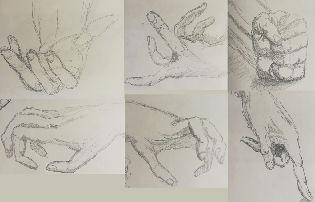 Study of hands by Allexbiggb