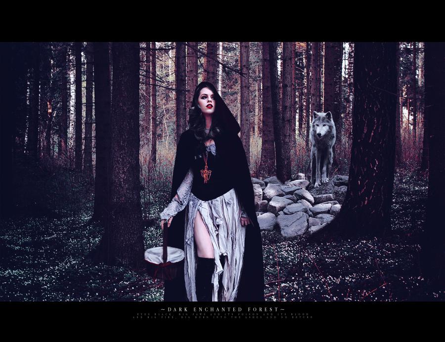 dark enchanted forest by Eichenelf