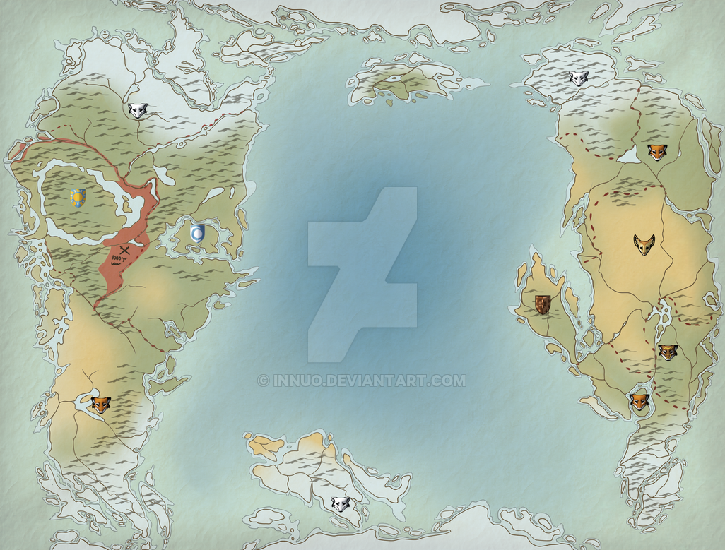 Pre Ice Age World Map.Ice Age World Map By Innuo On Deviantart