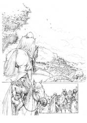 Red Sonja 01 Pencil by MikaelNoon92