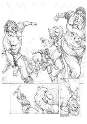 Red Sonja 03 Pencil by MikaelNoon92
