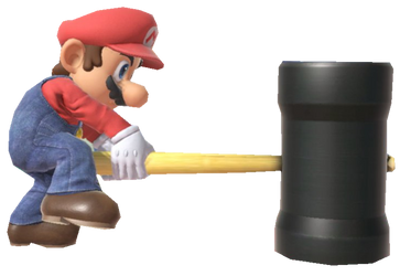Super Mario with a hammer