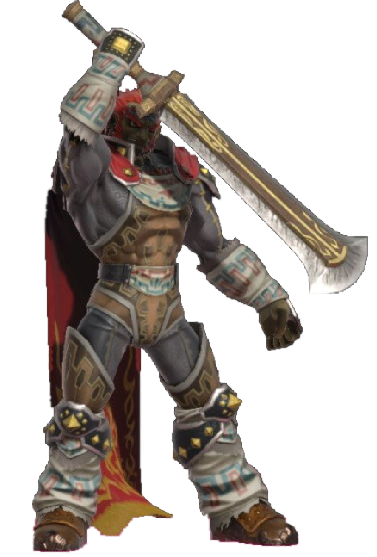 Oot Ganondorf Holding His Sword By Transparentjiggly64 On