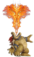 Bowser spewing Fire Upwards by TransparentJiggly64