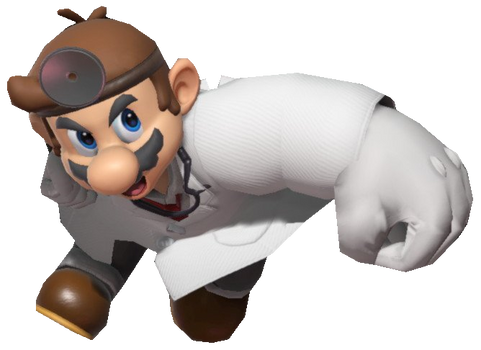 Dr. Mario performing a Spike by TransparentJiggly64