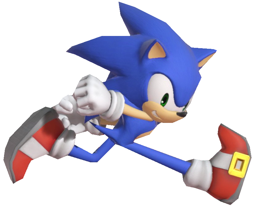 Modern Sonic Running While Looking Aside By Transparentjiggly64 On Deviantart