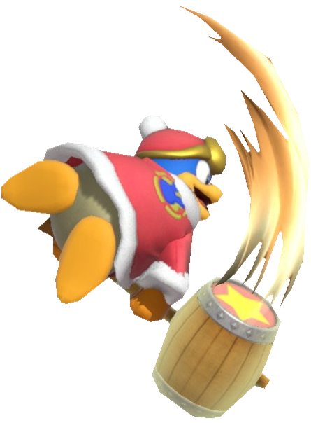 King Dedede Swinging his Hammer in the Air by TransparentJiggly64 on  DeviantArt