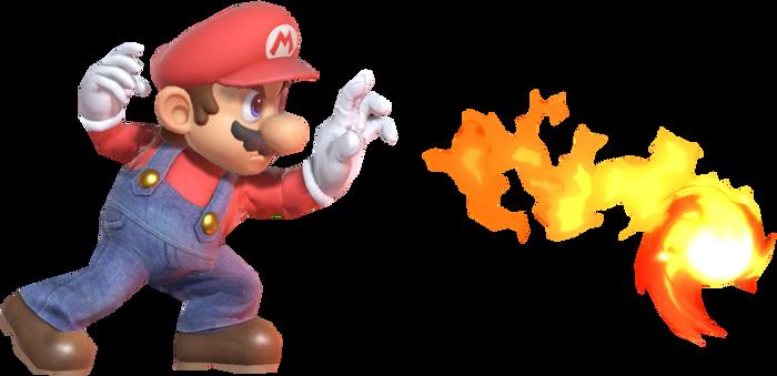 Super Mario Shooting a Fireball