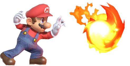 Super Mario Shooting a Fire Orb