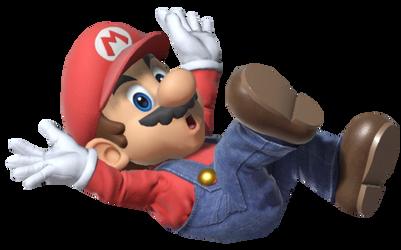 Super Mario falling
