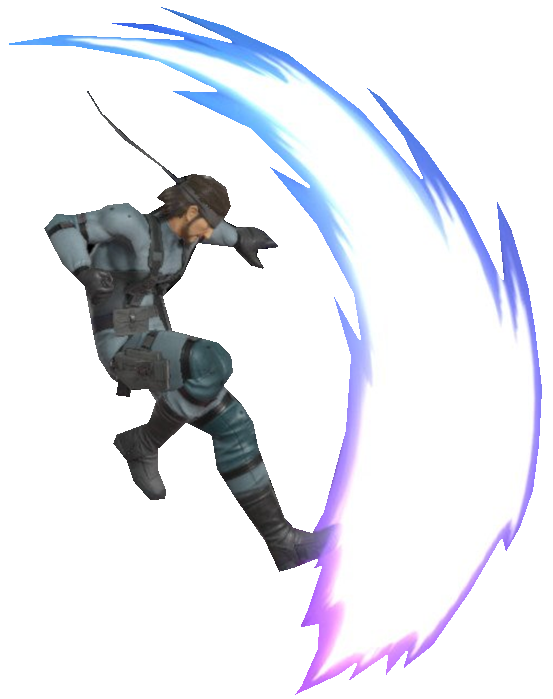 Solid Snake performing an Axe Kick by TransparentJiggly64 on