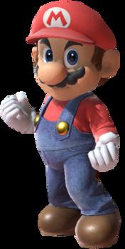 Super Mario facing towards you