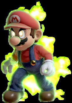 Super Mario with Final Smash Aura