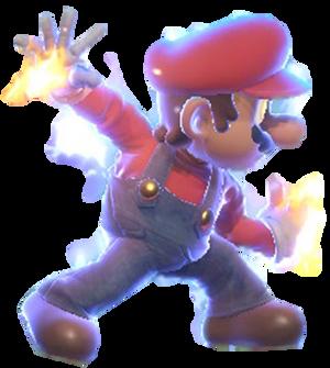 Super Mario preparing to use Mario Finale