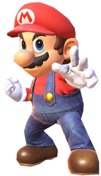 Super Mario posing