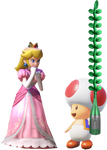 Princess Peach and toad with Champagne