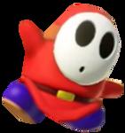 Red Shy Guy posing
