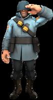 Blu Soldier Saluting