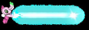 Shiny Celebi using Hyper Beam