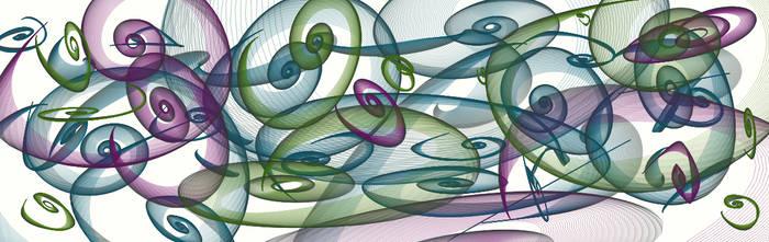 colorful spirals