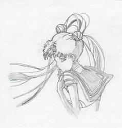 Sailor Moon in the wind by princessdeedee26