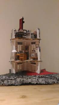 Spiderman-Vulture Diorama (backside)