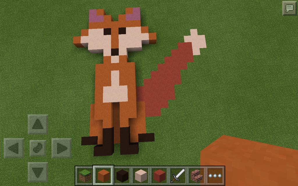 minecraft pe fox by wingedshewolf on deviantart
