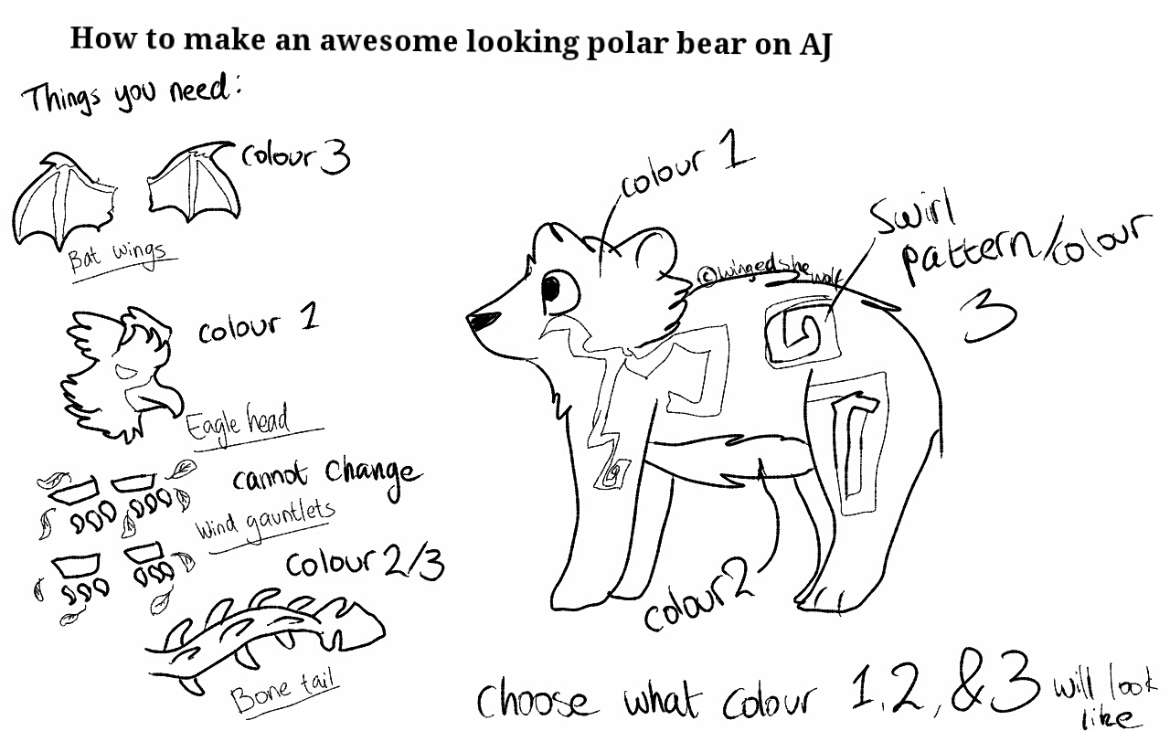 How To Make An Awesome Looking Polar Bear On Aj By Wingedshewolf