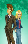 Doctor and Rose. coloured