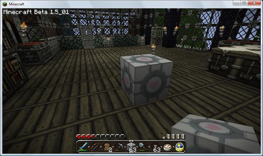 minecraft- companion cube by chaz107bravo