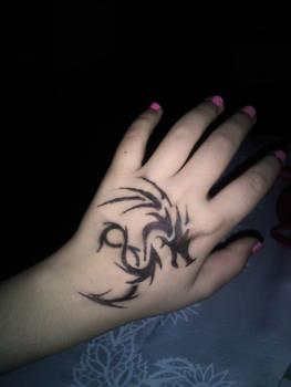 My Attempt of Tribal Tattoos (Dragon)