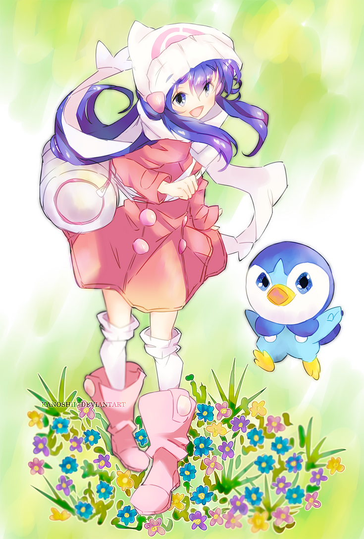 Dawn and Piplup by Kannon-kun