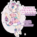 Adoptable: Nemus Drakun Sakura Flower [CLOSED]