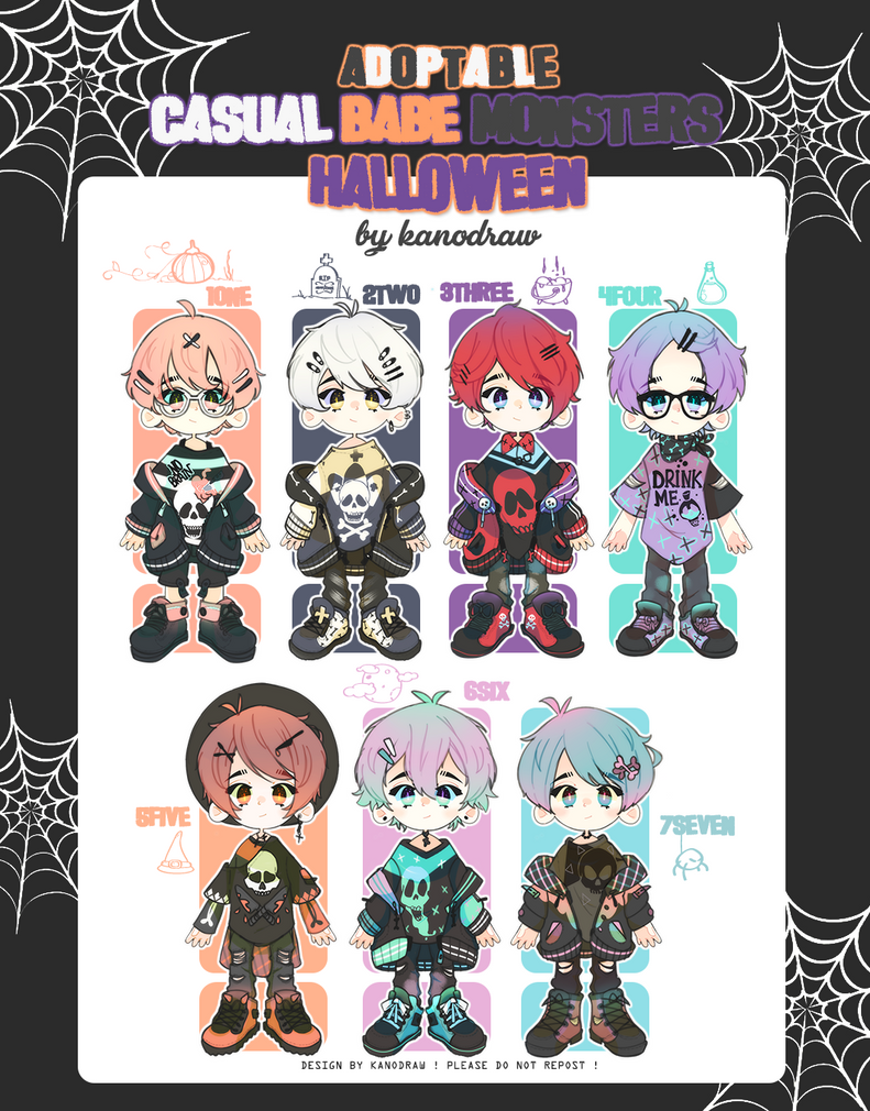 Adopt: Casual Babe Monsters Halloween 2 [CLOSED] by kanodraw